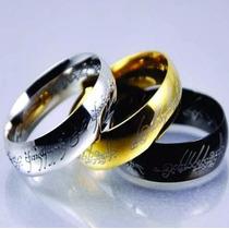 Anel Senhor Dos Anéis - Tungstênio Folheado A Ouro+barato