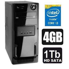 Pc Cpu Intel Core I3 +4gb Ram+hd 1tb Promoção 1 Ano Garantia