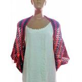 Colete Casulo Kimono Trico Fio Importado Feito À Mão