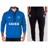 Kit   Blusa + Calça Moletom Cruzeiro Time Futebol Moleton 60631ea98f53f
