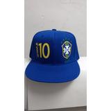 Gorra Plana Snapback Brasil 10 Neymar
