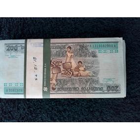 Cédulas De 200 Cruzeiros Pacote Com 100 Notas