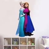 Poster Sticker Gigante Vinyl Para Pared Frozen Elsa Y Anna