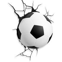 Lampara Football Para Pared 3d Pelota De Soccer Led