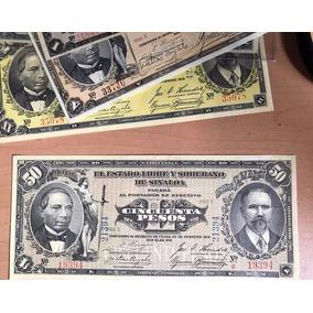 Billete $ 50 Ps 1915 Estado Libre Y Sober Sinaloa Excelen