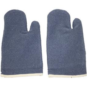 ad973b4d73332 Luva Térmica Mão De Gato Alta Temperatura Grafatex Azul 45cm
