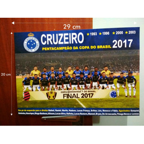 Placa Decorativa Cruzeiro Pentacampeão Copa Do Brasil+brinde