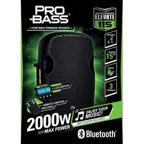 Caixa Ativa 15 C/bluetooth-usb Pro Bass Elevate 115 800wrms