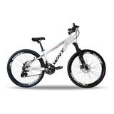 Bike Aro 26 Wny Freeride Preta Shimano 21v Freio Disco Dh
