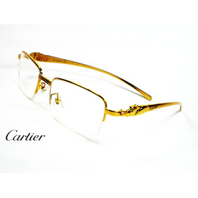 Montura Óptica Cartier France 54-18mm Gold Panthere® Opt0222