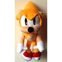 Pelúcia Do Sonic Hedgehog Super Sonic 35cm + Brinde