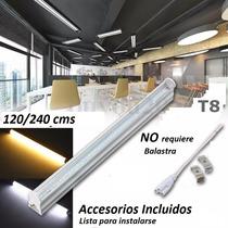 Lote 10 Tubos Led 1.2mts 18w T8 Canaleta Plástico 18watts