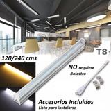 Lote 6 Tubos Led 1.2mts 18w T8 Canaleta Plástico 18watts