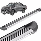 Estribos Aluminio Pesado Pulido Bepo Para Toyota Hilux 2016+