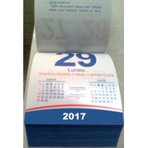 Exfoliador Taco Calendario 2017 Varilla Pared Escritorio Len