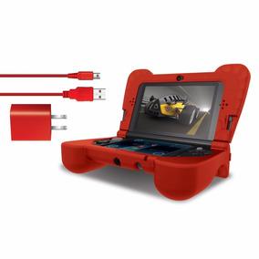 Protector Y Cargador Para El Nuevo Nintendo 3ds Xl- Play Kit