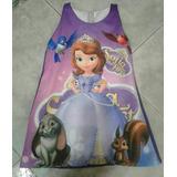 Batola Vestido Personalizado Niña Princesa Sofia Y Mas...