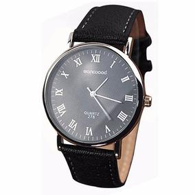 Relógio Barato Importado Couro Quartz Masculino
