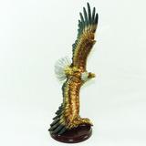 Estatueta Águia Em Resina Estátua Escultura Decoração