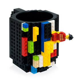 Redlemon Taza Geek Lego Build-on Ladrillos Armables Bloques