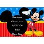 20 Convites Modelo Mickey
