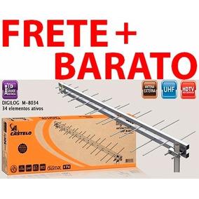 Antena Externa Digital Uhf Castelo M8034 34 Elementos Hdtv
