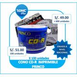 Cd-r Princo Imprimibles Pack 100 Nuevo