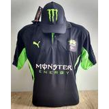 Polo Kawasaki Monster Camisa Gola Gp Moto Corrida+ Bone +fr