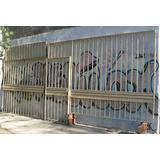 Frente De Rejas De Caño Estructural Con Porton 2 Hojas