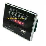 Modulo Mp3 Usb Microsd Fm Aux Bluetooth Y Control - Pandatec