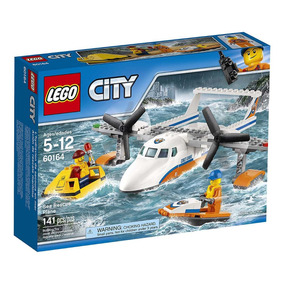 Lego City Guardacosta Avion De Rescate Marítimo 60164 Bloque