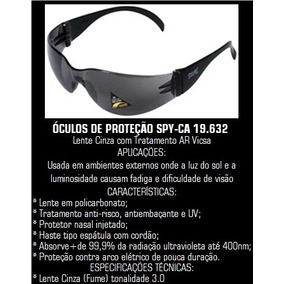 Óculos De Proteção Vicsa Spy