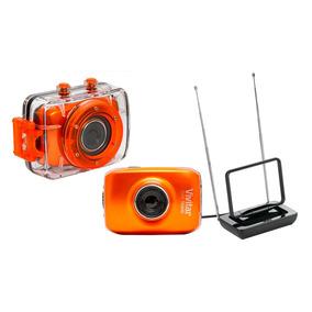 Câmera De Ação Hd Com Acessórios + Antena Interna De Tv