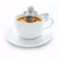 Infusor De Silicon Para Te Modelo Mr Tea Color Gris