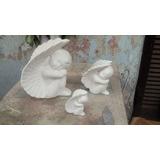 Angel Alado Chico De Bizcocho Ceramico