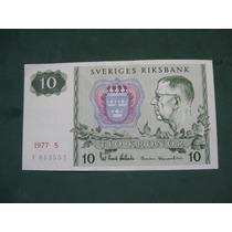 Billete Suecia 10 Kronor # 52 (23). Coronas 1977