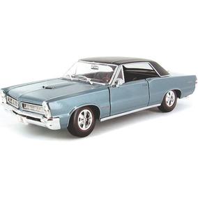 Maisto 1/18 Pontiac Gto 1965 Azul Claro Diecast Metal