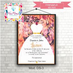Invitaciones Kit Imprimible Despedida De Soltera Vestido