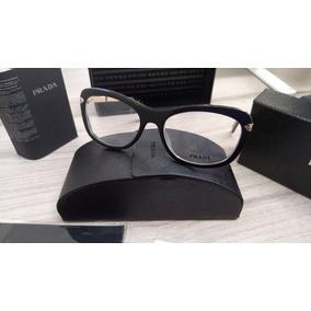 Armação Feminina Óculos De Grau Acetato Prada Vpr09 Preta