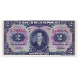 Colombia 2 Pesos 20 Julio 1942