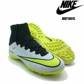 64c81fc887 Chuteira Nike Society Preta verde Limão - Chuteiras Nike no Mercado ...