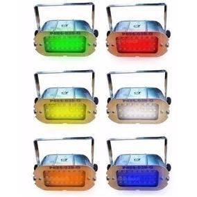 Flash Led Estroboscopico 24 Led Regulable Diferentes Colores