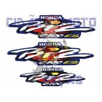 Kit Adesivos Honda Biz 100 Es 2001 Azul