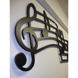 Quadro Decorativo Musical Clave De Sol - Pintado 70cmx30cm
