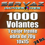 1000 Volantes /folletos 10x15 - 1 Color -diseño Gratis- 24hs
