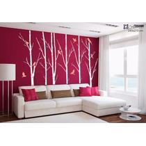 Adesivo Decorativo Papel Parede Arvore Seca Floresta +barato