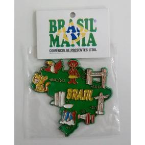 Imã De Geladeira Mapa Regiões Do Brasil