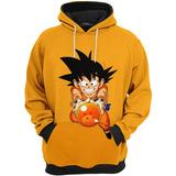 Roupa De Frio Moletom Dragon Ball Goku Criança