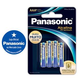 Pilha Alcalina Premium Panasonic Aaa6
