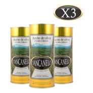 Aceite De Oliva Extra Virgen Yancanelo Lata 1 Litro X 3 U